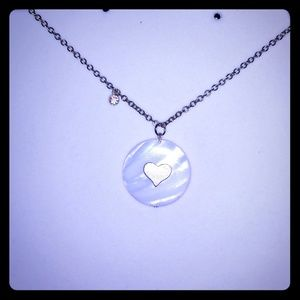 Round Shell Heart Necklace